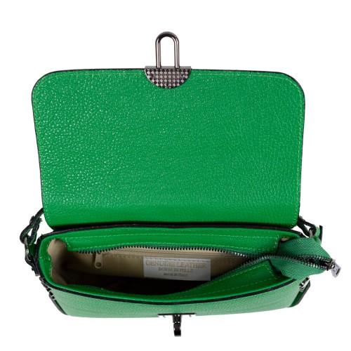 Gentuta piele verde cu imprimeu crocodil GF2472