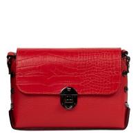 Gentuta piele rosie cu imprimeu crocodil GF2480