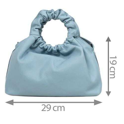 Gentuta dama piele bleumarin prafuit GF2711