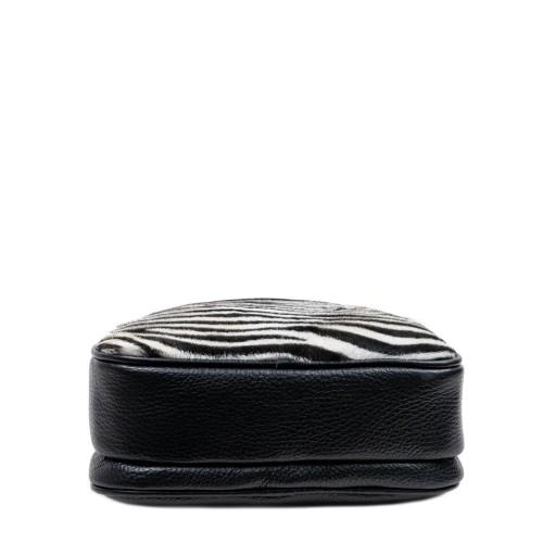 Gentuta piele neagra par imprimat zebra GF2879