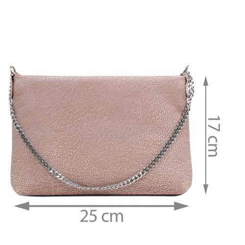 Gentuta piele tip plic roz pal GF2919