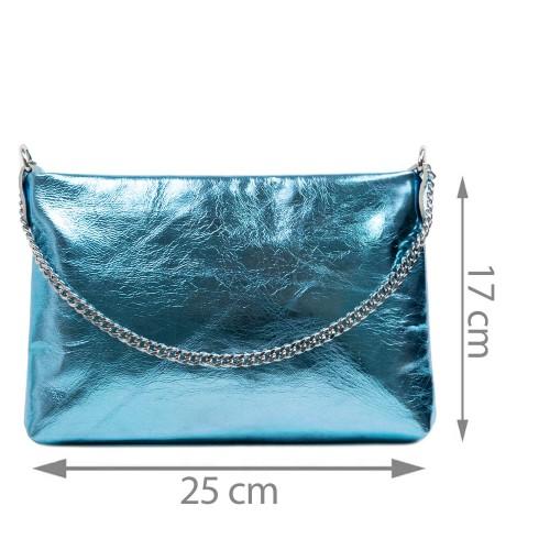 Gentuta piele tip plic albastru sidefata GF2930