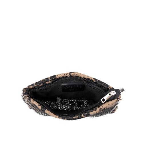 Gentuta piele tip plic bej/negru GF3075