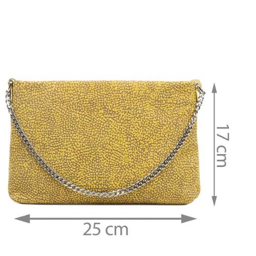 Gentuta piele tip plic galben cu imprimeu GF3077