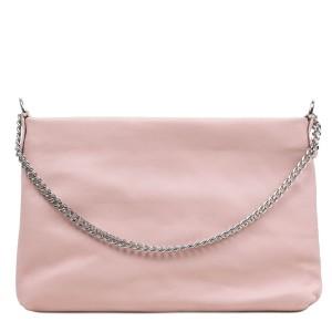 Gentuta piele tip plic roz prafuit GF3083