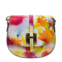 Gentuta piele multicolor imprimeu floral GF3100