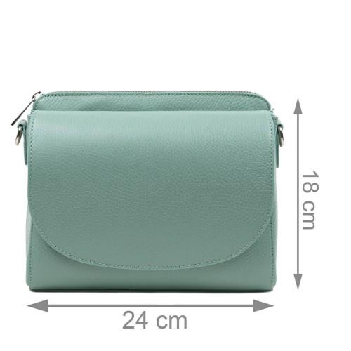 Gentuta piele verde fistic GF3161