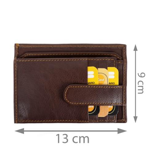 Port-card piele maro inchis PT060
