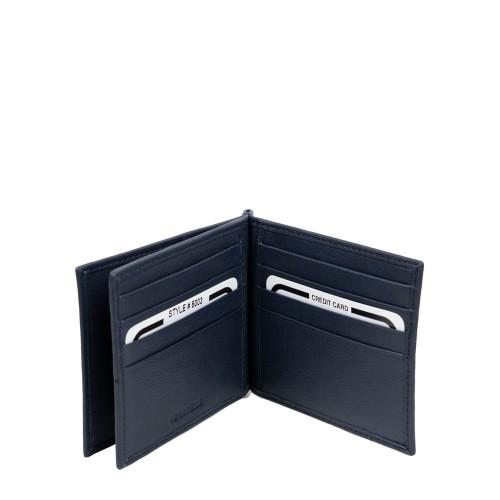 Port-card din piele bleumarin PT092