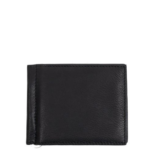 Port-card din piele negru PT093