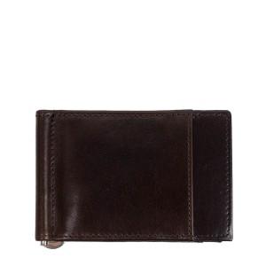 Port-card din piele maro inchis PT096