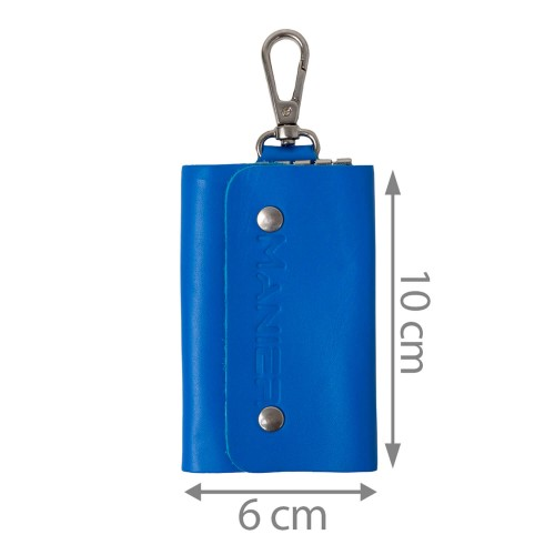 Port-chei din piele naturala albastru PC004