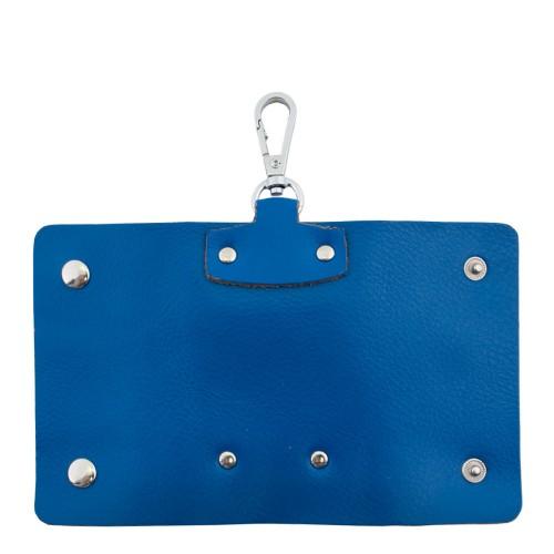 Port-chei din piele naturala albastru PC004 Portofele