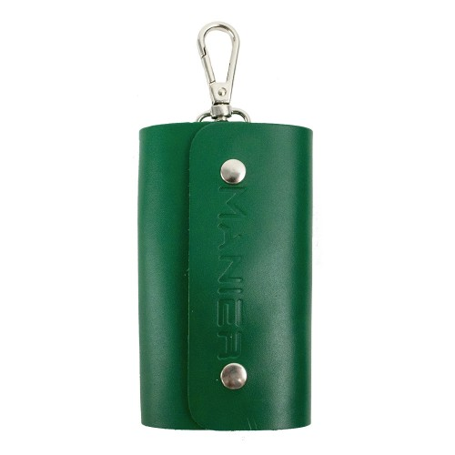 Port-chei din piele naturala verde PC007