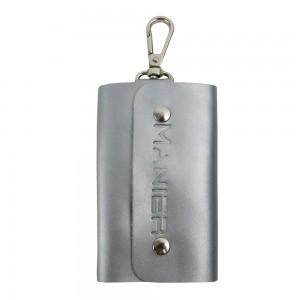 Port-chei din piele naturala silver PC012