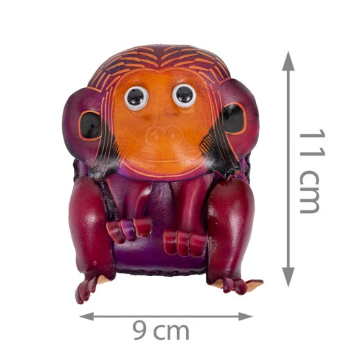 Port-monede piele naturala Monkey-PM001