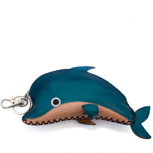 Port-monede piele naturala Delfin-PM009