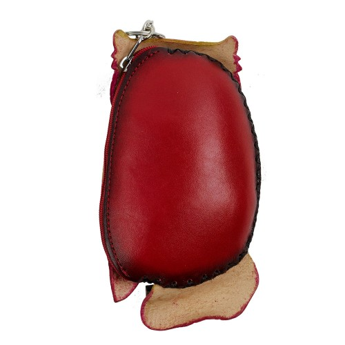 Port-monede piele naturala Bufnita PM031