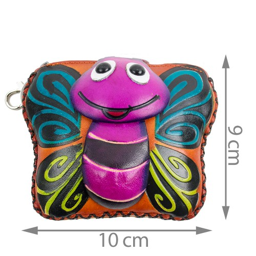 Port-monede piele naturala Albinuta-PM036