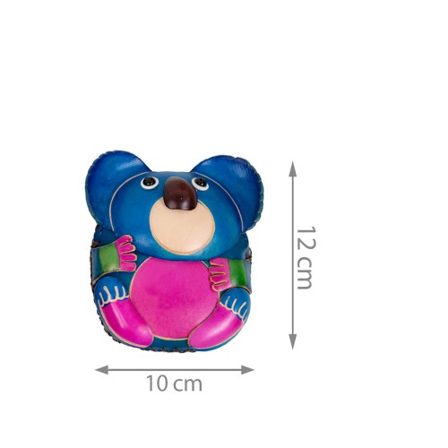 Port-monede piele Koala multicolor PM043