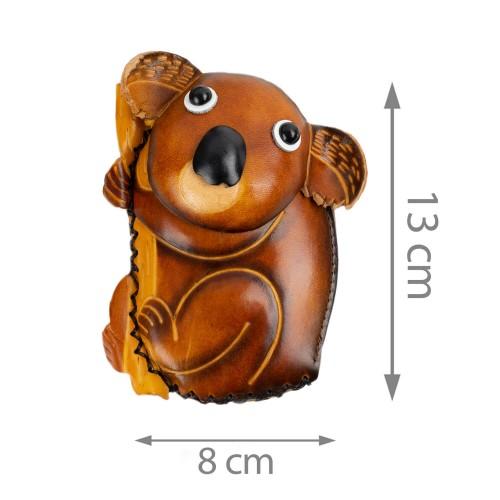 Port-monede piele Koala ocru PM045
