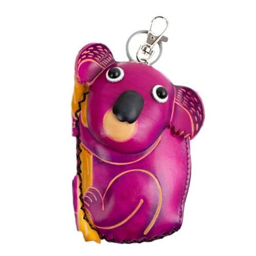 Port-monede piele Koala roz PM046