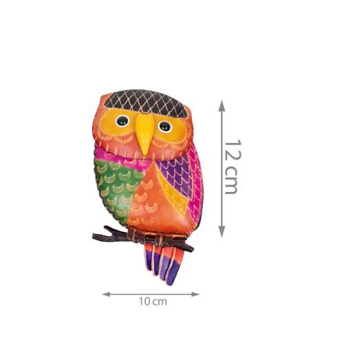 Port-monede piele Buha multicolora PM049