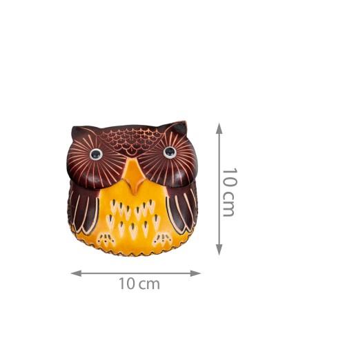 Port-monede piele Buha multicolora PM051
