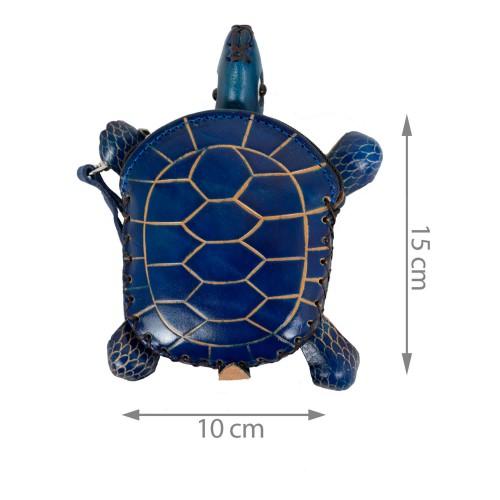 Port -monede piele bleumarin Testoasa PM054