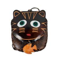 Port-monede piele pisicuta neagra PM064