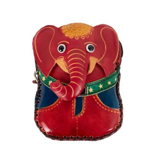 Port-monede piele elefant rosu PM065