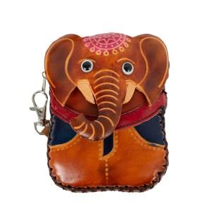 Port-monede piele elefant maro PM067