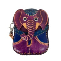 Port-monede piele elefant mov PM068