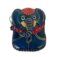 Port-monede piele elefant albastru PM070