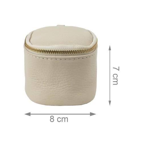 Port-monede piele bej PM073