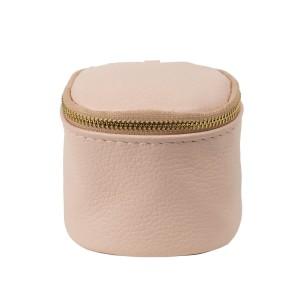 Port-monede piele roz prafuit PM074