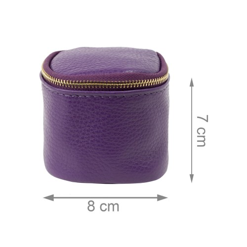 Port-monede piele mov PM075