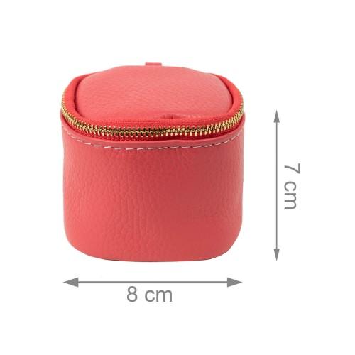 Port-monede piele roz PM078