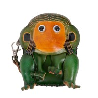 Port-monede piele Monkey verde PM079