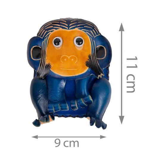 Port-monede piele Monkey bleumarin PM080