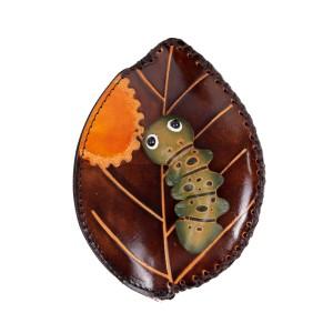 Port-monede piele maro inchis PM082