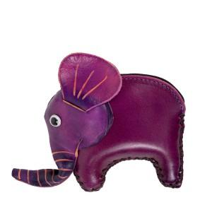 Port-monede piele elefant mov PM087