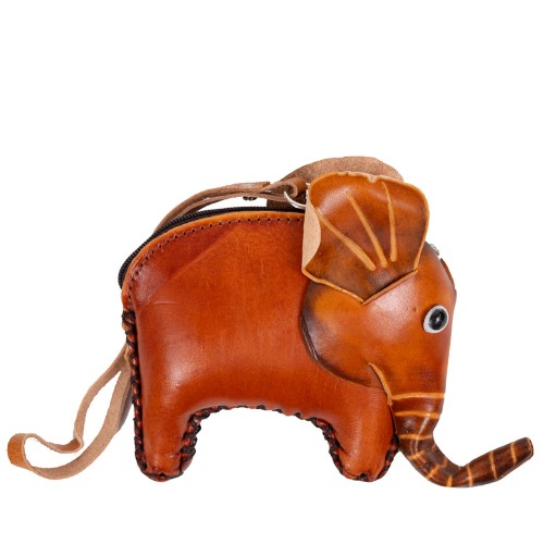 Port-monede piele elefant maro PM089