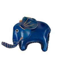 Port-monede piele elefant bleumarin PM090
