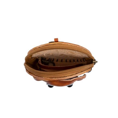 Port-monede piele catel maro PM093
