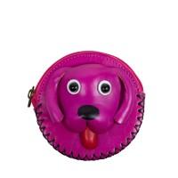 Port-monede piele catel roz PM096