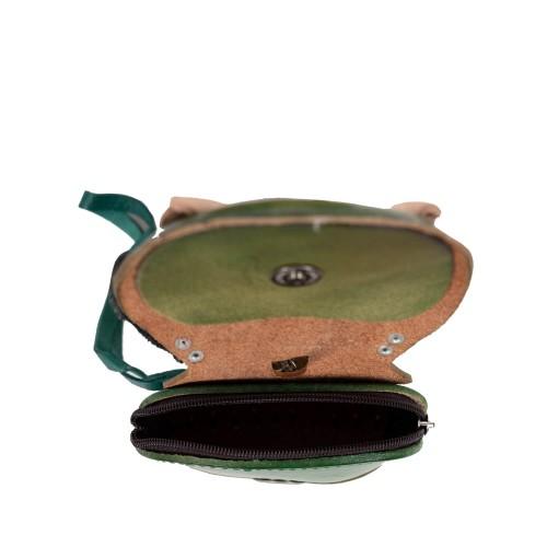 Port-monede piele catel verde PM099