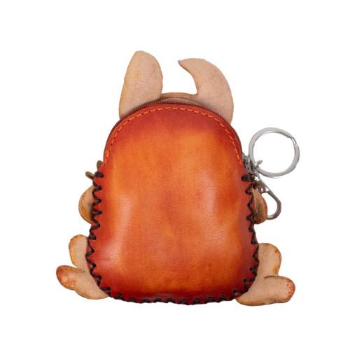 Port-monede piele maro roscat iepuras PM108