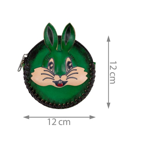 Port-monede piele verde PM110