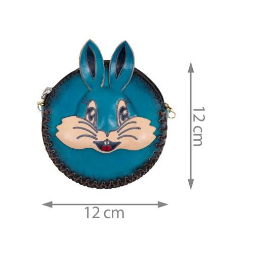 Port-monede piele turcoaz PM111